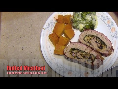 Rolled Meatloaf, cheekyricho cooking, fancy budget feast recipe. ep.1,202