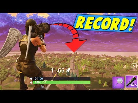 FORTNiTE WORLD RECORD ROCKET RiDE ACROSS THE WHOLE MAP!
