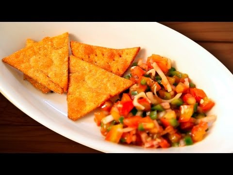 Nacho Chips - Homemade Nachos Recipe By Joel - Tortilla Chips - New Year Party Appetizer