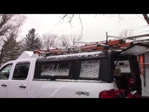 How to modify a truck cap to carry a ladder rack