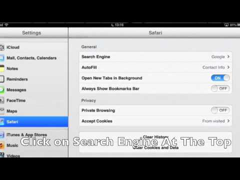 How to Change Your Search Engine on iPad