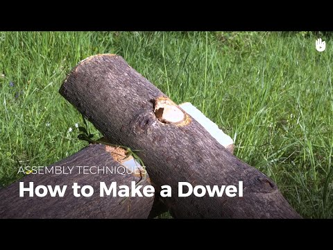 How to Make a Dowel | Bushcraft