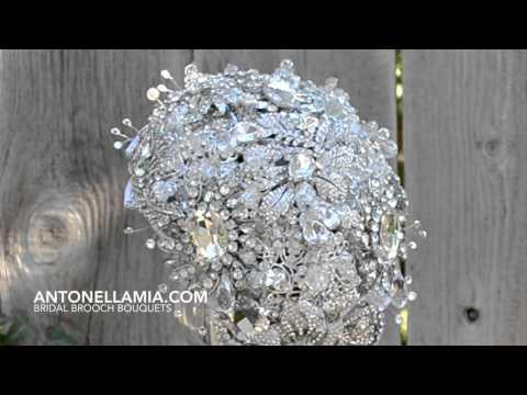 Diamond Drop Brooch Bouquet