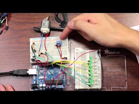Arduino Project: Potentiometer, Motor, and LEDs