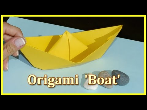 Easy ORIGAMI - Make a BOAT demo - Children's Educational Videos: Games & Puzzles for Kids!