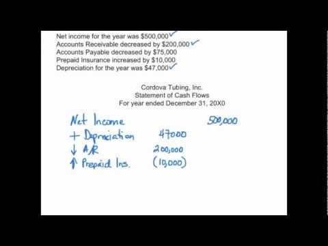 Statement of Cash Flows: Operating Activities Example - Financial Accounting video