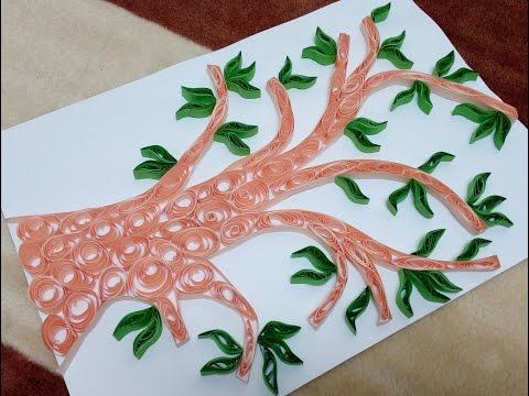 How to make quilling tree