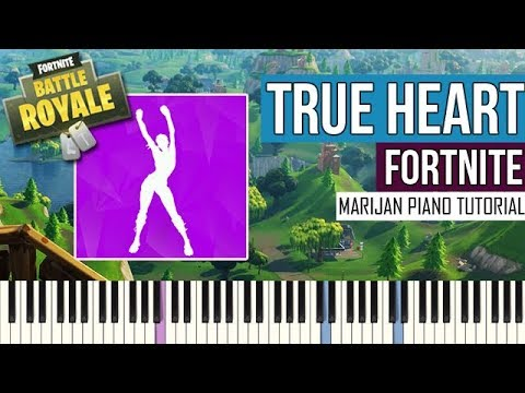 How To Play: Fortnite - True Heart | Piano Tutorial
