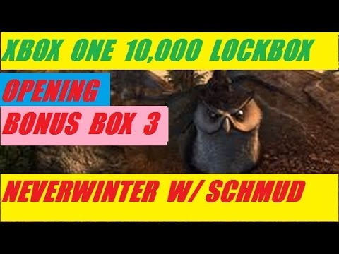 Xbox One 10,000 Lock Box Open Bonus 3 Neverwinter With Schmudthedarth