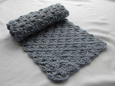 EASY crochet pretty lace scarf tutorial - part 1