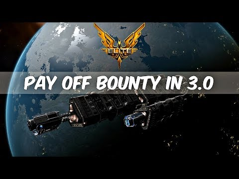 Elite Dangerous how to get rid of a bounty in 3.0