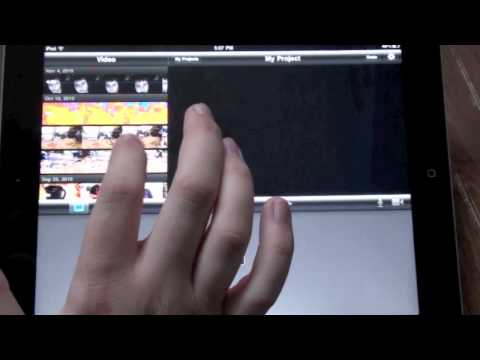 How to Edit on the Go with iPad 2 and iMovie