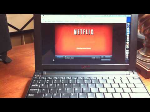 Netflix streaming test Dell mini 10v OSX86 Mac OSX