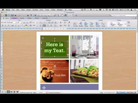 Word 2011 Mac -Using templates Part2