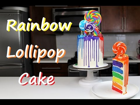 Rainbow Lollipop Drip Cake | CHELSWEETS