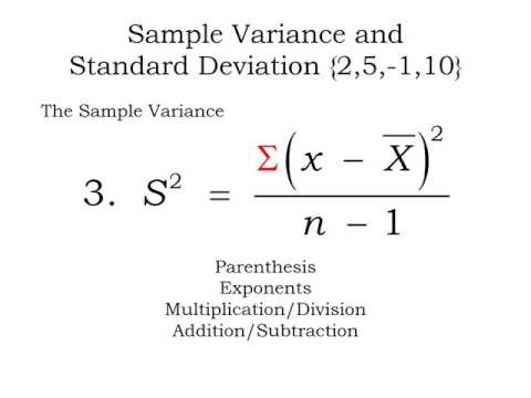 Summation notation, calculating sample means, variances and standard deviations