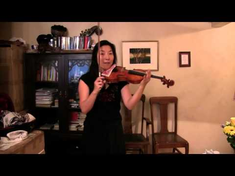How to play fast slurred runs on the violin