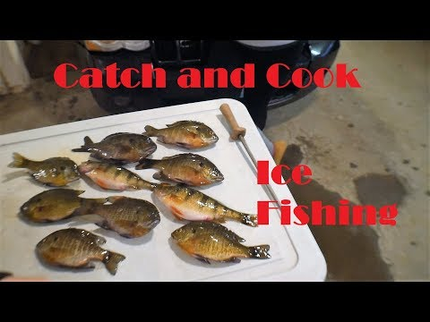 Catch and Cook Bluegills Ice Fishing