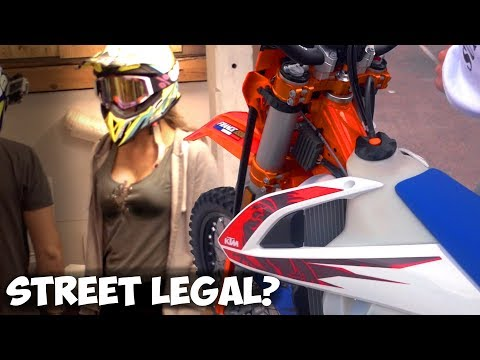 The Supermoto Build Begins | Is it STREET LEGAL? | SM BuiLDH #1