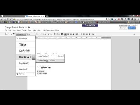 Tip - Set Default Fonts in Google Docs