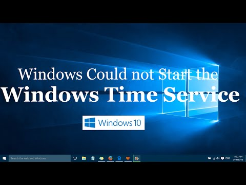 Windows Could not Start the Windows Time Service error in Windows 10