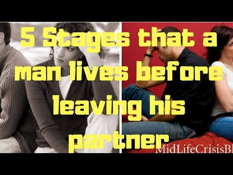 5 Stages that a man lives before leaving his partner