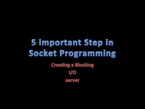 5 important step in socket programming,java socket tutorial blocking io