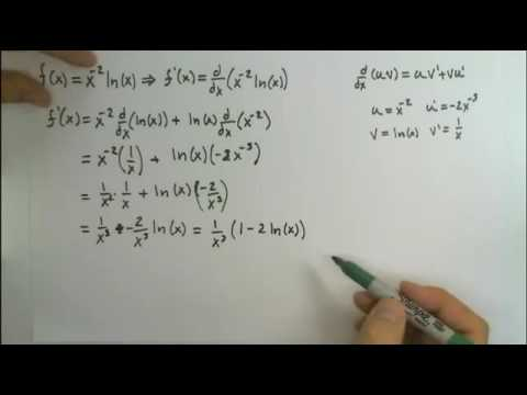 Find the critical values of f(x) = x^(-2)*ln(x)