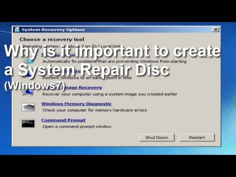 Windows 7 System Repair Disk