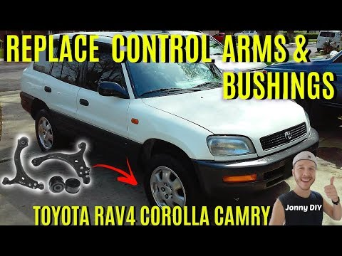 How To Replace Control Arms & Bushings Toyota -Jonny DIY