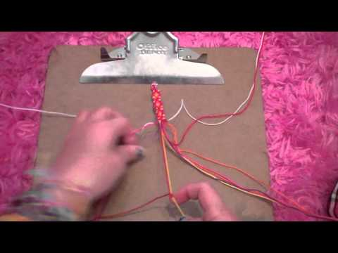 How to make the shaped friendship bracelet: Part 1
