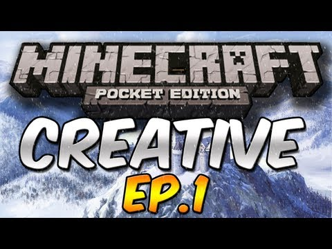 SNOW CASTLE!!! - Creative Mode Minecraft Pocket Edition - Ep.1
