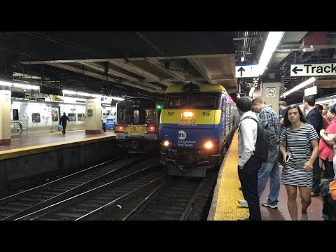 LIRR HD 60fps: EMD DM30AC 512 Leads Port Jefferson Branch Train 660 @ NY Penn Station (7/6/17)