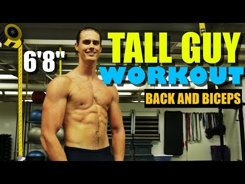 Tall Guy Workout: Back and Biceps [NEW CAMERA!]