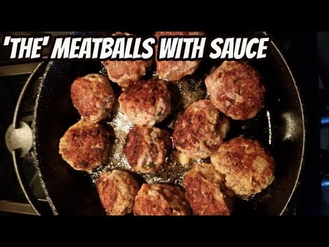 My Meatball Recipe with Sauce