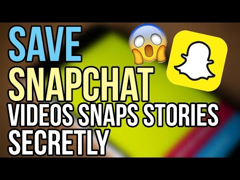 Save Snapchat Videos, Snaps, Stories without notifying! [How to]
