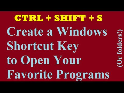 Windows 8: Make a keyboard shortcut