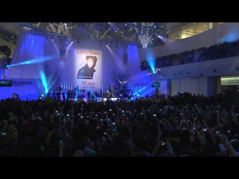 Justin Bieber performs at Westfield London and Westfield Stratford City