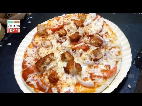 Chicken Pizza Making With Using  Readymade Pizza Base