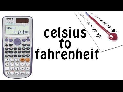 How to convert celsius into fahrenheit in scientific calculator - celsius to fahrenheit