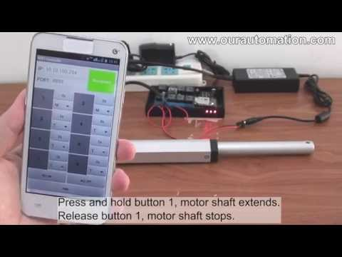 How to Remote Control Linear Actuator Motor via Mobile Phone WiFi Controller