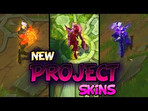 ALL NEW PROJECT SKINS - PROJECT: JHIN, PROJECT: VAYNE, PROJECT: VI - League Of Legends