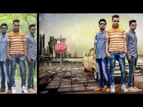 Photoshop Tutorial | Photo Manipulation & Change Background Very Smooth