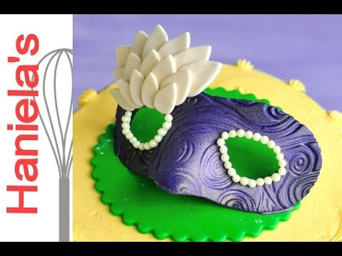 How To Make Mardi Gras Mask from Gumpaste
