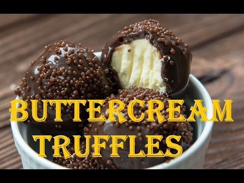 Buttercream Truffles Recipe - Great Dessert For Thanksgiving and Christmas Cookie Trays!