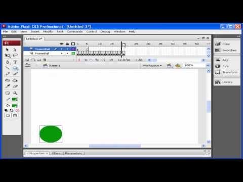 How to create a basic tween in Adobe Flash CS3