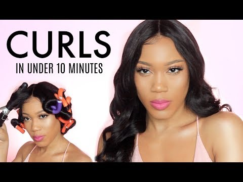 How To: Full Bouncy Curls with Flexi Rods   UNICE HAIR