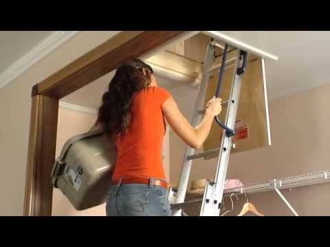 Keller - Compact Attic Ladder - Brief Installation Video