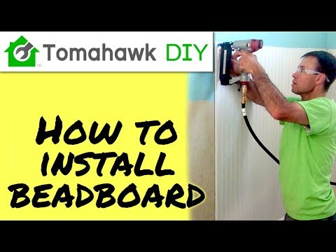 How to Intall Beadboard / Wainstcoting - FULL TUTORIAL