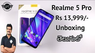 Realme 5 Pro Unboxing & initial impressions ll in Telugu ll